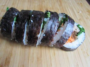 making-kimbap