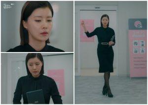 black-skirt-black-blouse