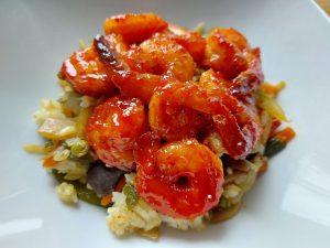 korean-sweet-and-spicy-prawns
